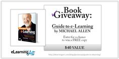 Book Giveaway – Michael Allen's Guide to eLearning