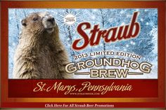 Straub Beer: Celebrating 140 Years, what can I say...I'm a Straub, unfortunately, not this one!