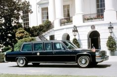 The Ronald W. Reagan administration took delivery of a 1983 Cadillac Fleetwood limousine and a Cadillac Fleetwood Brougham. It is often stated that the real Presidential Cadillac Fleetwood limousine was used in the 1993 film In The Line of Fire, starring Clint Eastwood, but in fact it was a carefully constructed replica and not the precise car that the Presidents used in that era. For security reasons, Presidential vehicles are no longer used outside of their official duties.
