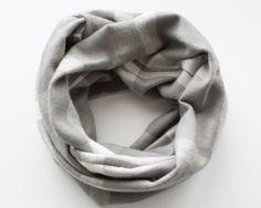 Grey Plaid Baby Scarf Flannel Scarf Infinity by BrittsBowtiqueVA