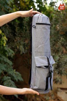 Yoga Mat Bag  GREY with Adjustable Strap  Yoga Bag by redelkshop, $47.00