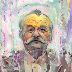 Bill Murray.  Portrait inspired by The Grand Budapest Hotel, by Rich Pellegrino
