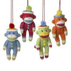Sock Monkey Ornaments - Set of 4 by Seasons of Cannon Falls, http://www.amazon.com/dp/B001M59XC8/ref=cm_sw_r_pi_dp_3F7Tqb01WC5QE