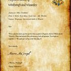 """A printable version of the popular Hogwarts Acceptance Letter. 2 copies are available with the white background more """"printer friendly"""" and can be ..."""