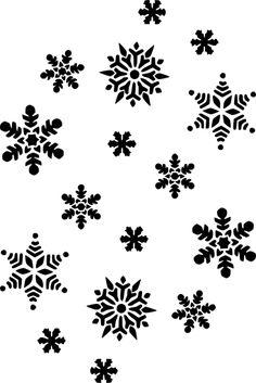 Christmas Stencils, Christmas Snowflakes, Christmas Clipart, Christmas Crafts, Xmas, Snowflake Silhouette, Silhouette Clip Art, Frozen Silhouette, Snowflake Background