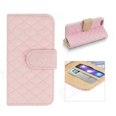 Color: Pink; Brand: Angibabe; Model: abcd321; Quantity: 1 Piece; Material: PU; Shade Of Color: Pink; Compatible Models: IPHONE 5S,IPHONE 5; Style: Full Body Cases; Design: Solid Color,Geometric Texture,Card Slot; Auto Wake-up / Sleep: No; Packing List: 1 x Case; http://j.mp/1v2BK1g
