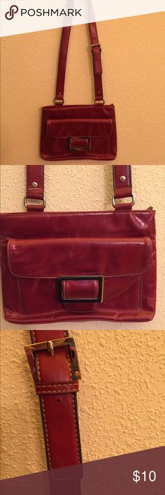 Peck Red Leather Bag