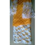 Exclusive Jaipuri Tie and Dye Suit Piece in yellow and white