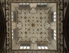 The ceiling of the York Minster Tower.  York Minster may be my favorite English cathedral.