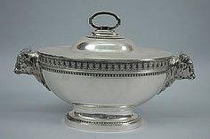 Magnificent Tiffany Silver Tureen Figural Oxen C.1855