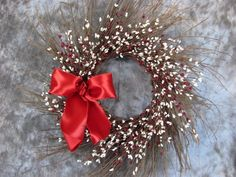 "Burgundy Red Cream 24"" Sunburst Wreath - Christmas"