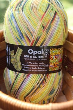 A personal favorite from my Etsy shop https://www.etsy.com/listing/251750241/opal-sock-yarn-color-1431