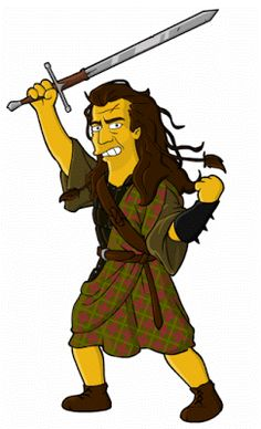 William Wallace I admit, it's been a long while since I've seen Braveheart, but the suggestion came up to draw him, it was interesting to. Simpsons Drawings, Simpsons Art, William Wallace, Braveheart, Homer Simpson, Fan Art, Iconic Characters, Futurama, The 5th Of November