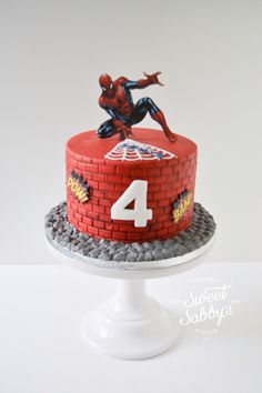 Spiderman cake made by sweetsabbys.com - Visit to grab an amazing super hero shirt now on sale!
