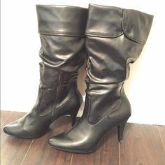 Black women's boots Like new! Worn a couple hours. Blake scott Shoes Heeled Boots