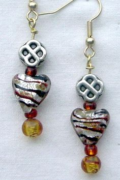 Handsome Brown, Gold Heart Celtic Knot Earrings by AGreenWoods on Etsy