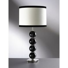 Elstead Lighting Four Ball Glass Lamp in Black