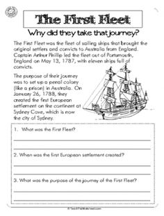First fleet,  year 4 activity. Questioning why they took the journey.