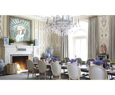 DINING - Kirsten Kelli - amazing wall treatement