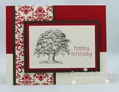 Lovely as a Tree stamp set from Stampin' Up is great for many cards, but my favourite is masculine cards.