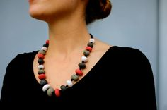 Porcelain Bead Necklace / Ref. N8 by DebGoodsonJewellery on Etsy