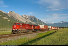 RailPictures.Net Photo: CP 8933 Canadian Pacific Railway GE ES44AC at Jasper, Alberta, Canada by Tim Stevens