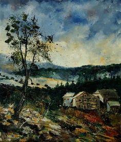 Saatchi Online Artist Pol Ledent; Painting, ardennes 67 #art