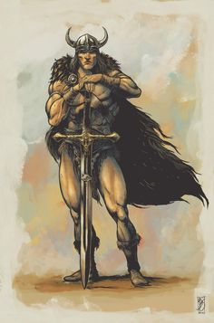 CONAN the CONQUER Fantasy Heroes, Fantasy Warrior, Fantasy Characters, Conan O Barbaro, Conan The Destroyer, Marvel Comics, Savage Worlds, Conan The Barbarian, Sword And Sorcery