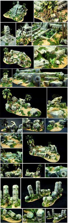 Lizardmen Jungle Terrain // Echsenmenschen Dschungel Gelände