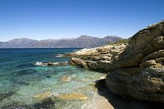 Cap Corse, on the French island of Corsica. Look at that water...