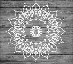 Stencil MYLAR Reusable Shabby Chic Mandala Vintage Fabric Furniture Wall Art 023 #KustomKreations