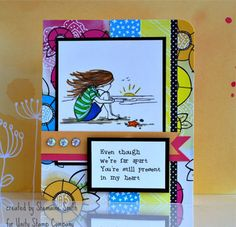 """This adorable collector's stamp kit is from Illustrator Phyllis Harris.  She is an artist for the popular HIGHLIGHTS magazine for children as well as stamp illustrator for Unity Stamp Company.  She has SEVERAL releases with Unity – and you simply can click HERE.  Girl measures approximately 2"""" x 3"""".  """"i miss you"""" sentiment measures approximately .25"""" x 1.75"""".  """"Even though we're far apart You're still present in my heart"""" sentiment measures approximately 1"""" x 2"""".   All Unity Stamps are…"""
