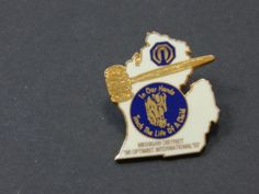 Enamel Hat Tie Lapel Shirt Pin Optimist International Michigan District 96-97