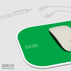 A green 'shardies' mouse pad  brings a relaxing energy to your office desk.