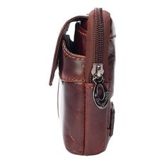 6ac0d2b57e63 Men Genuine Leather Clutches Bag Belt Waist Phone Bag for 7 inches Phones