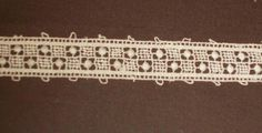 Antique Lace 68 1/2 inches 6/8 wide delicate lace 1920s France Germany
