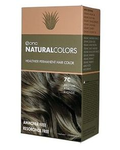 7C Médio tintura cabelo loiro cinza com ingredientes orgânicos