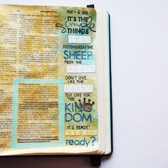 Sheep or goat? Do you know which side you're gonna be standing on? There is no in between  #matthew25 #bibleartjournaling #illustratedfaith #judithandherbible #vsco #vscocam #socality