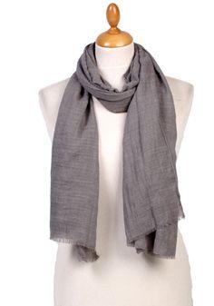 Foulard chèche gris lin coton premium. Découvrez sur mesecharpes.com + de  150 foulards abe89f4bd5a