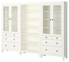 "DREAM ""built in"" cupboards for under $1,000k?!!!     HEMNES Storage Combination traditional bookcases cabinets and computer armoires"