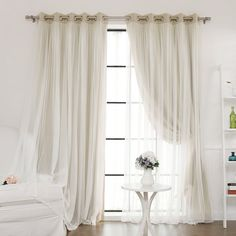 Two layer blackout curtains