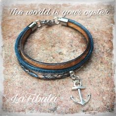Ein tolles maritimes Armband mit Ankeranhänger. Dieses Armband passt super zu Jeans!