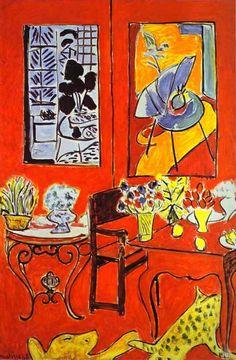 Grand intérieur rouge, Henri Matisse                                                                                                                                                      Más