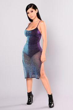 Catherine Metallic Dress - Purple Multi 3b46da427