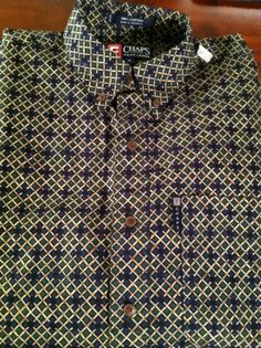 Chaps Ralph Lauren Long Sleeve 100% Cotton Mens Shirt + Free Gift Bag  eBay NWT $9.99