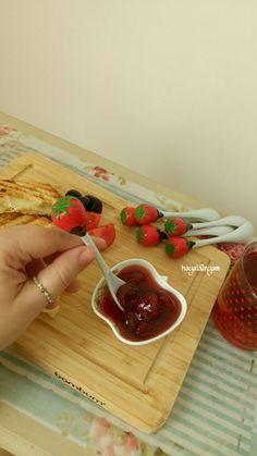 Polymerclay spoon, Reçel kaşığı, Polimerkil , Polymerclay spoon,