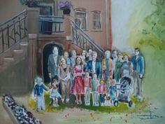 Bruiloft in Litthoien, live op locatie geschilderd