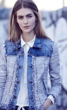 The Jeans Winter 2017 The main trends in denim, 70 photos with pacths, applications, details Blazer Jeans, Fashion Mode, Denim Fashion, Fashion Sewing, Moda Jeans, Sewing Jeans, Denim Look, Denim Ideas, Recycled Denim