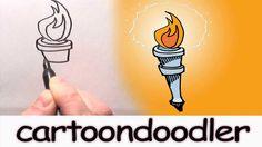 How to draw Olympics cartoondoodle designs.