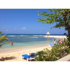 Beach in Jamaica ~ for once it's somewhere I've been!